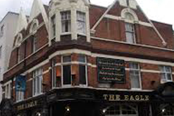 """Local landmark The Eagle pub, famous from the rhyme """" Pop Goes The Weasel"""""""