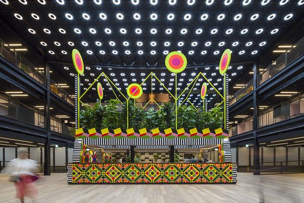 Atoll Kiosk by Morag Myerscough