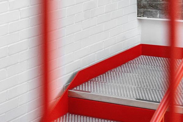 Pearson Lloyd Orange Staircase