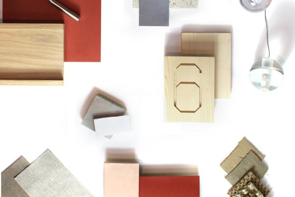 Interior materials palette
