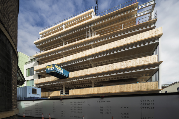 On site - cross laminated timber-steel hybrid structure