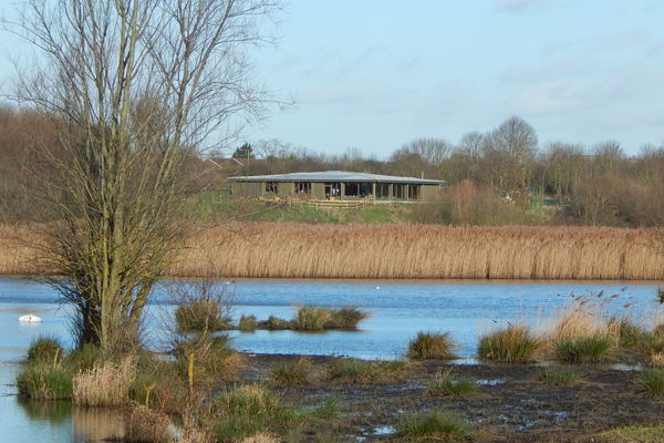 View of Visitor Center from Ingrebourne Valley