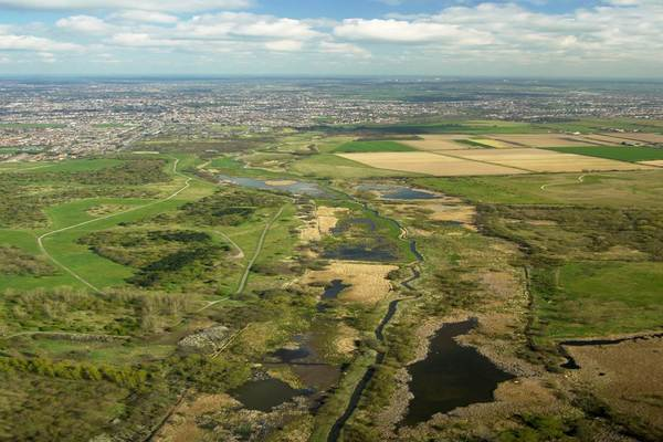 Aerial view of Ingrebourne Valley