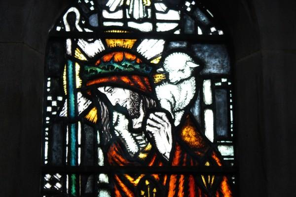 Christ the Good Shepherd - detail