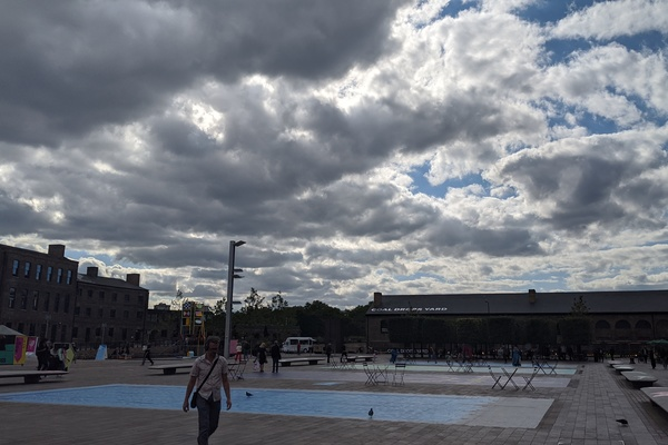 Storm clouds from Granary Square