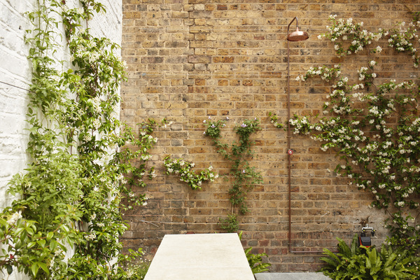 The Library House. Garden Shower