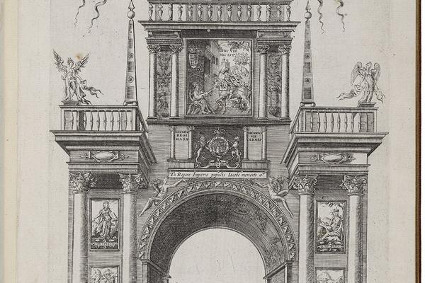 James I Coronation Cavalcade - Italian Arch