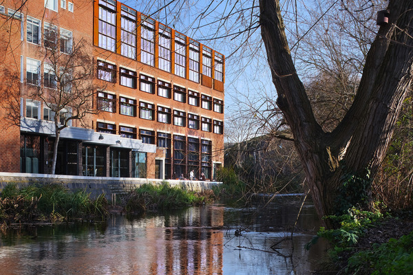 Beside the Hogsmill River - Mill Street Building, Kingston School of Art, Kingston University