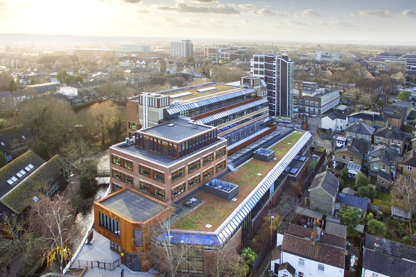 Aerial view - Mill Street Building, Kingston School of Art, Kingston University