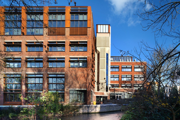 Across the Hogsmill River - Mill Street Building, Kingston School of Art, Kingston University