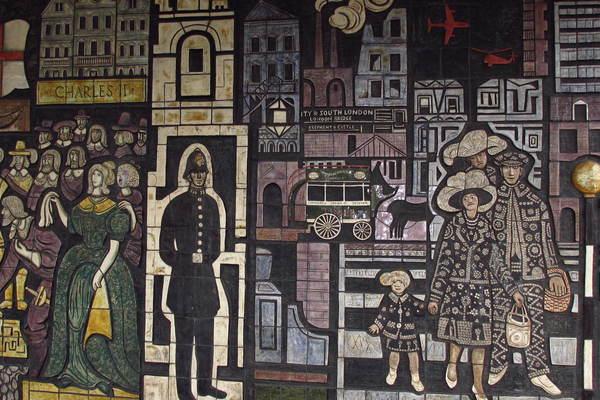 Adam Kossowski mosaic at the North Peckham Civic Centre