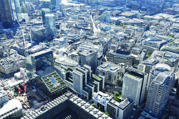 London Wall Place aerial view