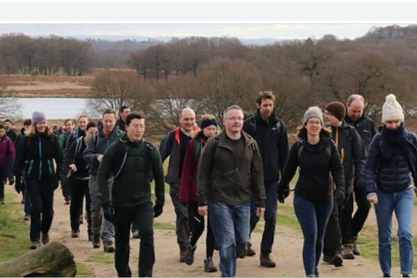 One of our walks in nearby Richmond Park