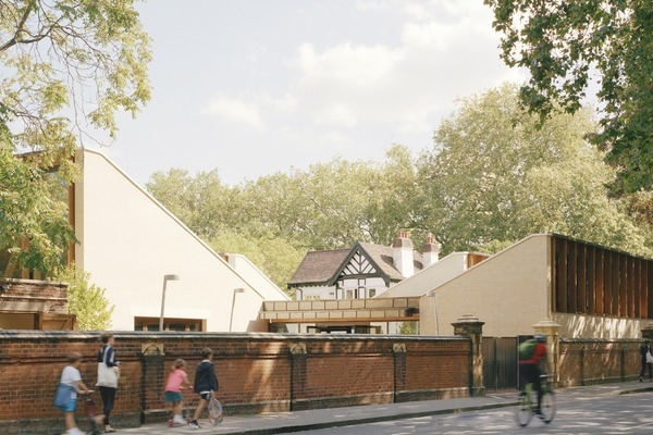 The project included refurbishing an existing historical lodge adjacent to the new buildings.